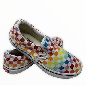 VANS Rainbow Checkerboard Slip On Canvas Shoes 3